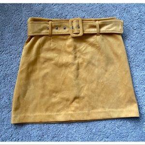 Mustard Yellow Velvet Skirt - Worn Once!